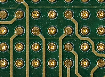 Microvia in-pad in an HDI layout and stackup
