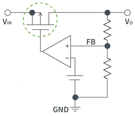 What is an LDO circuit diagram