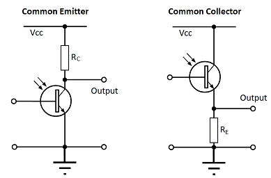Phototransistor circuit configuration