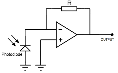 Circuits for phototransistor vs photodiode