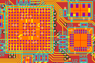 Schematic vs layout for an FPGA board