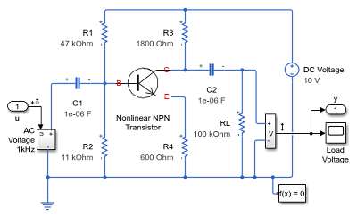 Schematic for an amplifier circuit