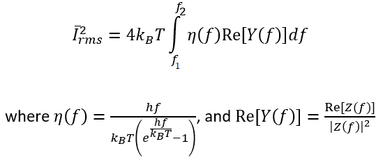 Current fluctuations from thermal noise in communication systems