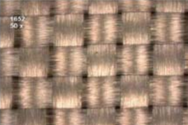 Fiber weave effect is due to the fiberglass resin composite substrate