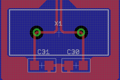 XTAL oscillator circuit for a high speed PCB