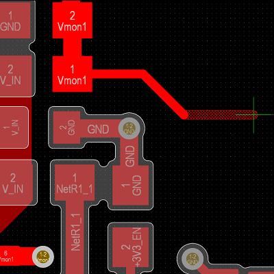 PCB routing in Altium Designer
